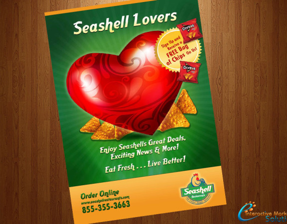 Seashell-Restaurants-Lovers-Poster